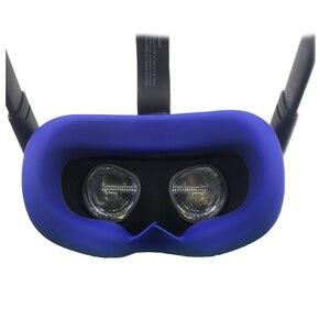 Image 4 - Almohadilla de silicona para cara de ojo, antisudor, para Oculus Quest VR, controlador de gafas, correa para nudillos, bloqueo de luz, almohadilla facial