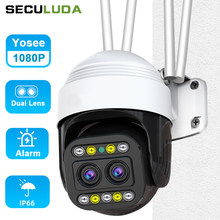 Surveillance Cameras With Wifi Camera Wi-Fi Street 1080P Dual Lens Camera Wifi Camera Outdoor Ip Wifi Camera Wifi 360 Yosee
