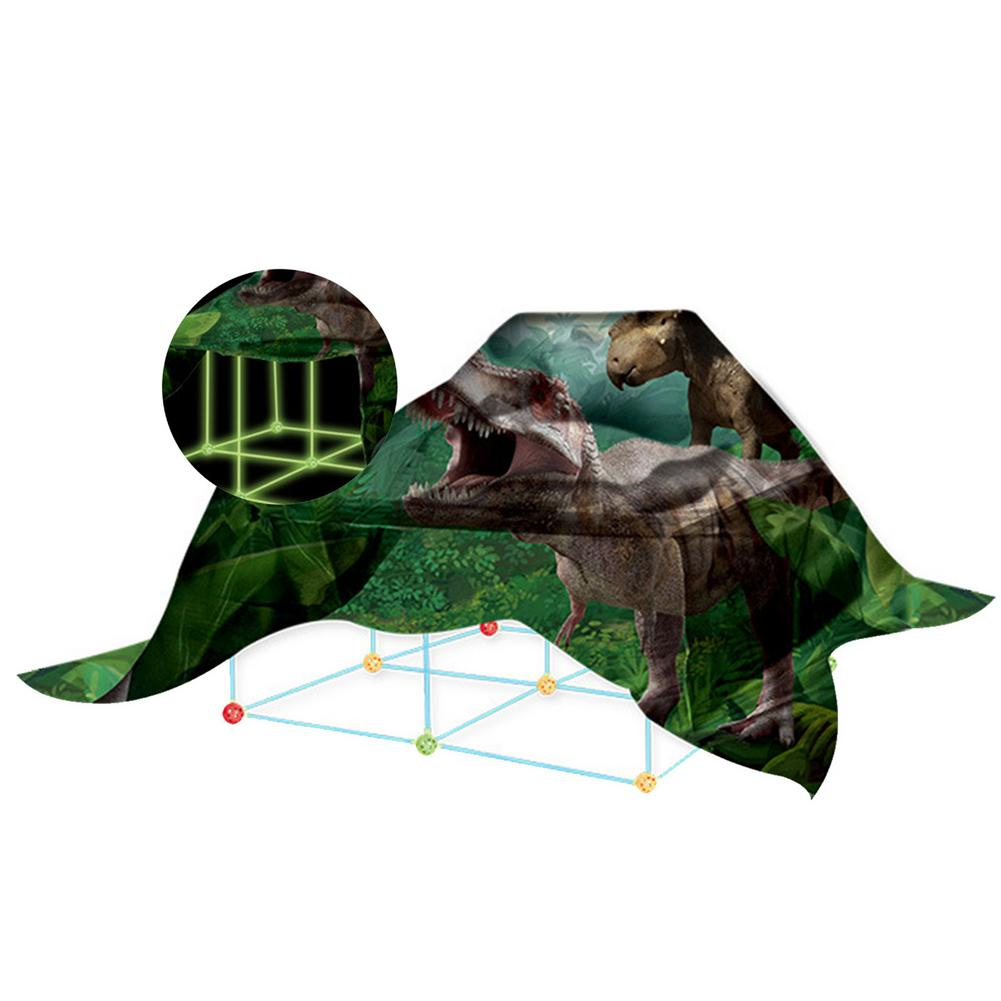 Castles Tunnels Play Tent Kids Construction Fort Building Kits DIY Building Fortress Outdoor Sports Games Toys For Children Gift