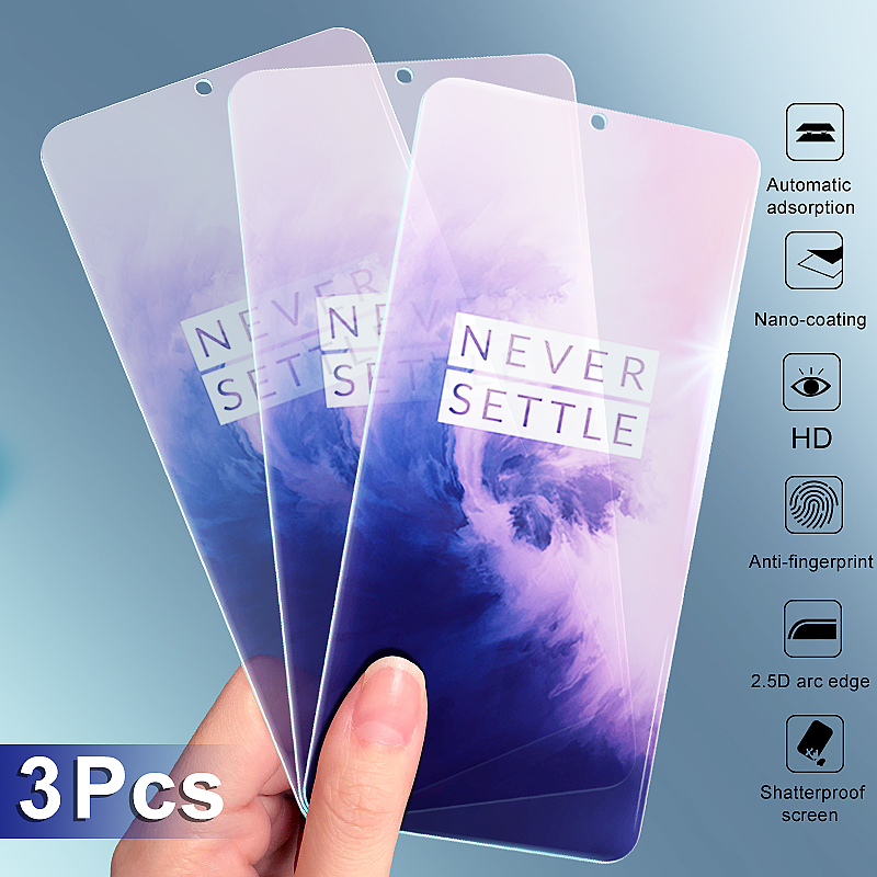 3-1Pcs Protective Glass On The For Oneplus 7 7T 6 6T 5 5T 3 3T Tempered Glass Film For OnePlus 7 7T Screen Protector Glass