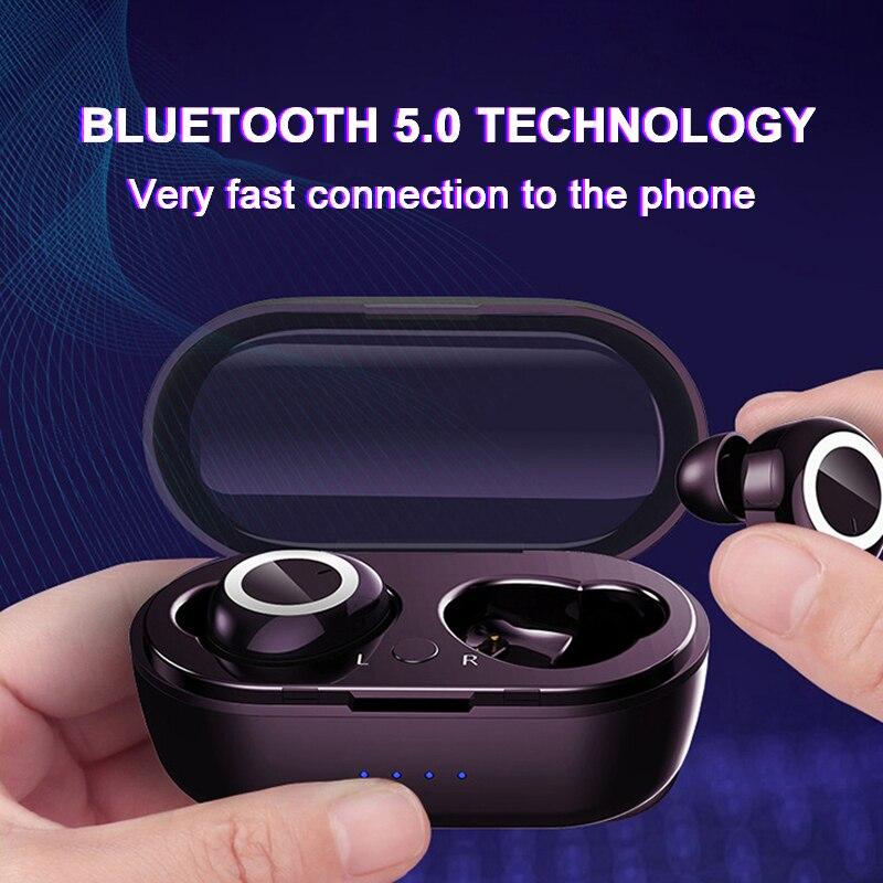 Bluetooth 5 0 Wireless Earphones Portable TWS Headphones LED Display Bluetooth Earphone Gaming Headset Handsfree Sports Earbuds in Phone Earphones Headphones from Consumer Electronics