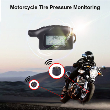 Waterproof Cordless TPMS Motorcycle Tire Pressure Monitoring System 2 External Sensor Car Tire Pressure Alarm Monitor System