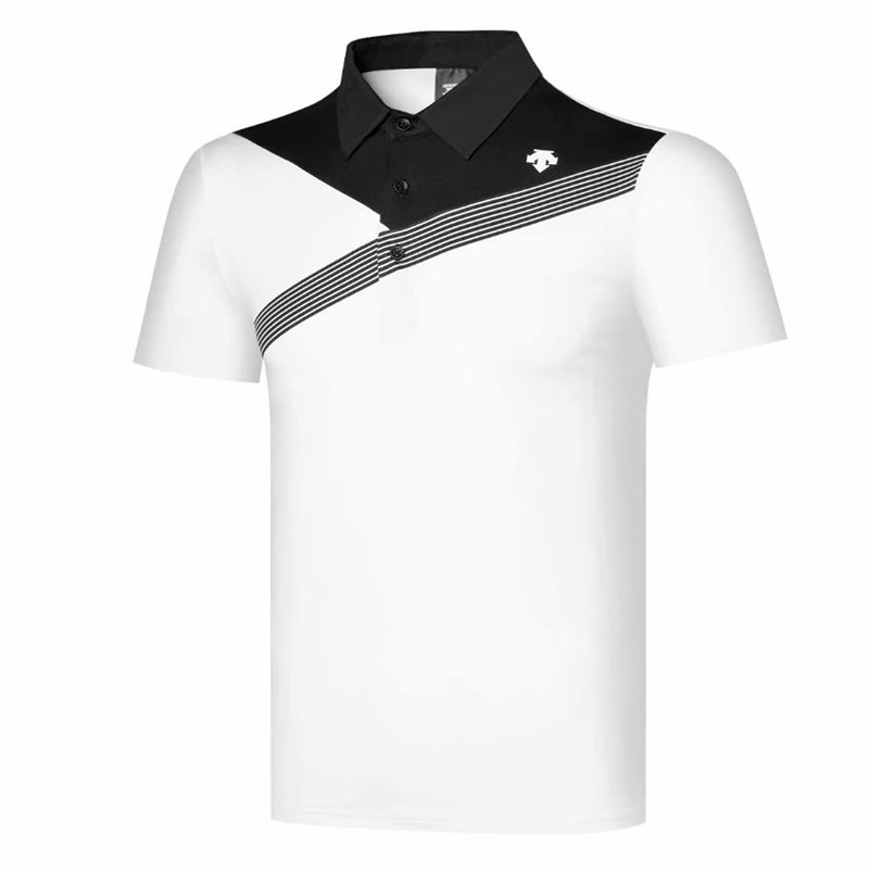 Men Golf Clothes DESCENT Short Sleeve Sport Golf T-shirt S-XXL In Choice 4 Colors Sport  Leisure Golf Shirt