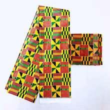 Новая атласная шелковая стрейчевая ткань с принтом африканского