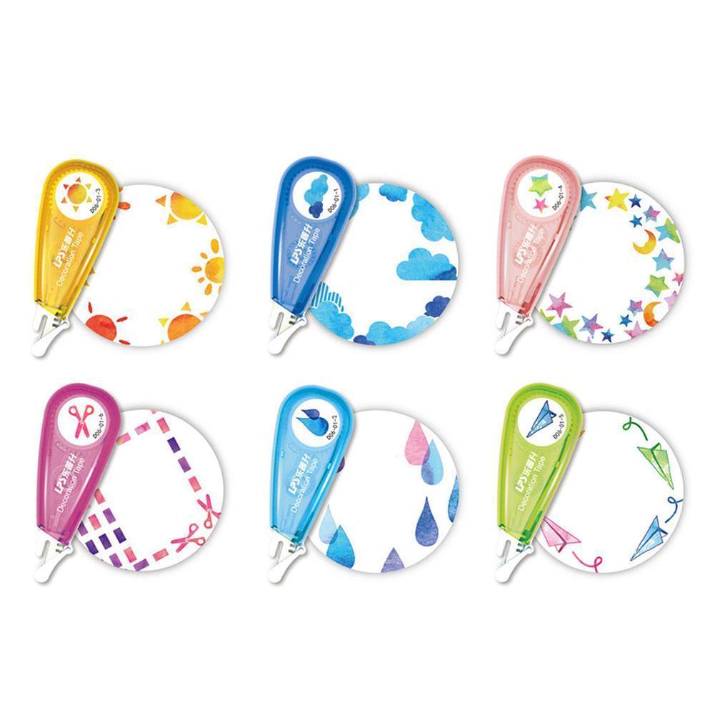 Cute Cartoon Press Decorative Correction Tape Kawaii Decoration Tape For Kids School Diary Stationery Gift Drop Scrapbookin U4G8