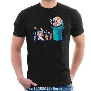 Printed funny 2020 camiseta Super Mario Pikmin Wrong Planet Men's T-Shirt 100% cotton women tee shirt(China)