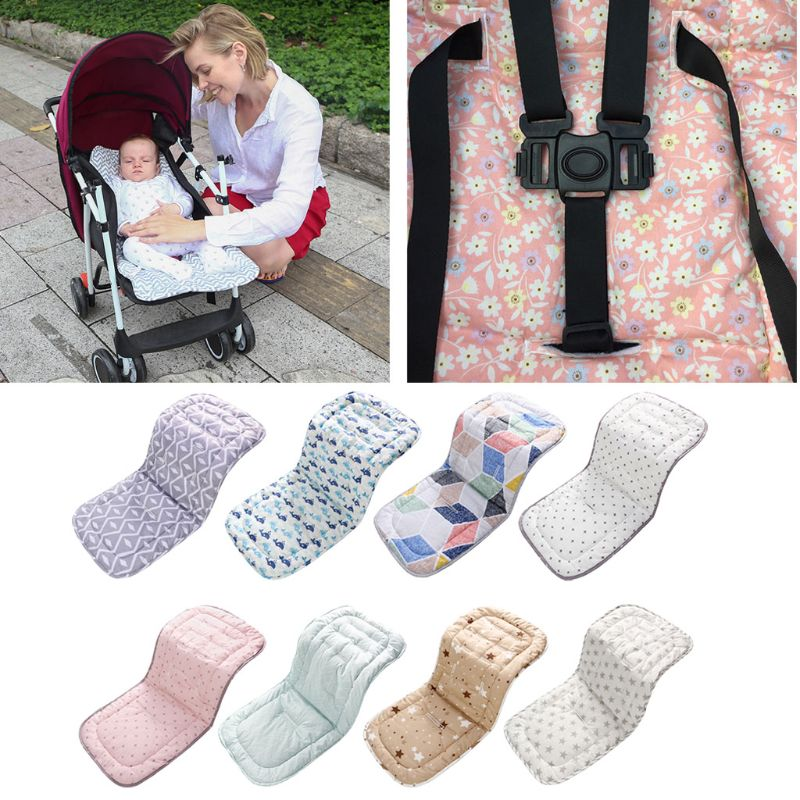 Baby Stroller Pad Cotton Baby Chair Cushion Seat Pad For Prams Kids Trolley Mat Stroller Mattresses Accessories