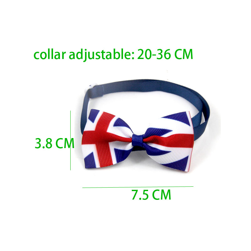 United Kingdom Flag PrintLovely Cat Dog Collar Bow Tie Adjustable Neck Strap Dog Grooming Accessories Pets Products Cat Supplies