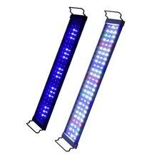 Su geçirmez akvaryum LED ışık balık tankı aydınlatma akvaryum dekorasyon peyzaj ışıkları iki renk değiştirilebilir 30/40/60cm