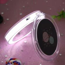 Cute Cartoon Pattern Portable LED Light Up Rechargeable Folding Makeup Mirror