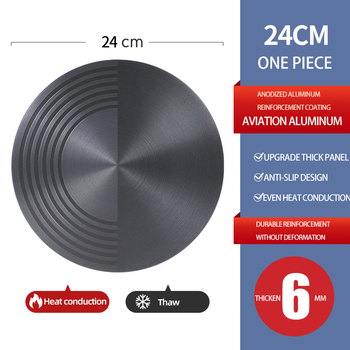 Kitchen Tools Thaw Plate 24cm Heating Multifunction Defrost Board Protect The Bottom Of The Pot Frozen Food Meat Fast Thaw Tray Cooking Tong Cooking Utensils Home & Garden Home Garden & Appliance Kitchen Tools & Gadgets Kitchen, Dining & Bar Color: diameter 24 cm