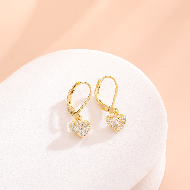 Women Drop Earrings Full Cubic Zirconia Delicate Girls Party Dangle Earrings Shiny Fashion Jewelry 5