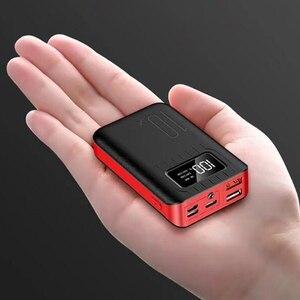 Image 1 - Портативное зарядное устройство 10000 мАч, внешний аккумулятор 10000 мАч с двойным USB портом, Внешнее зарядное устройство для Xiaomi Mi 9 8 iPhone