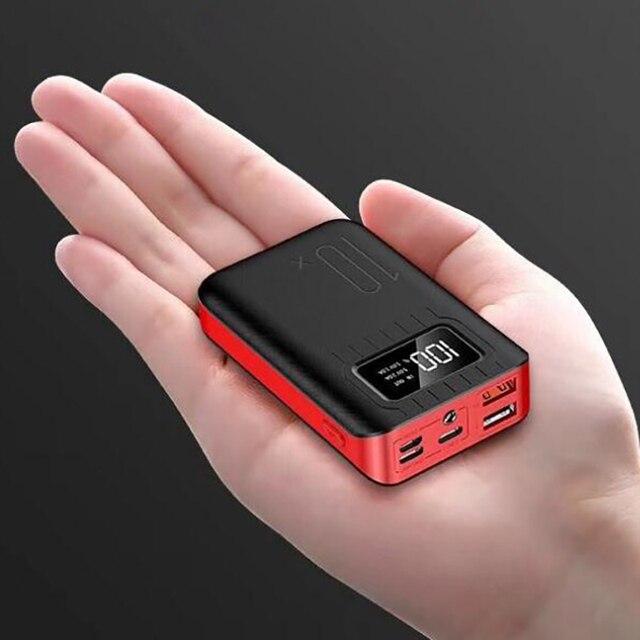 10000 mAh batterie externe Portable charge PowerBank 10000 mAh double USB appauvrbank chargeur de batterie externe pour Xiao mi mi 9 8 iPhone