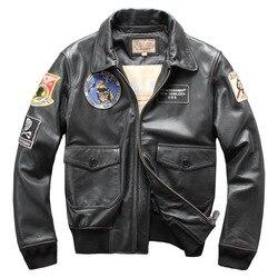 2019 мужская куртка из натуральной кожи размера плюс 5XL пальто из воловьей кожи куртка-бомбер для мужчин