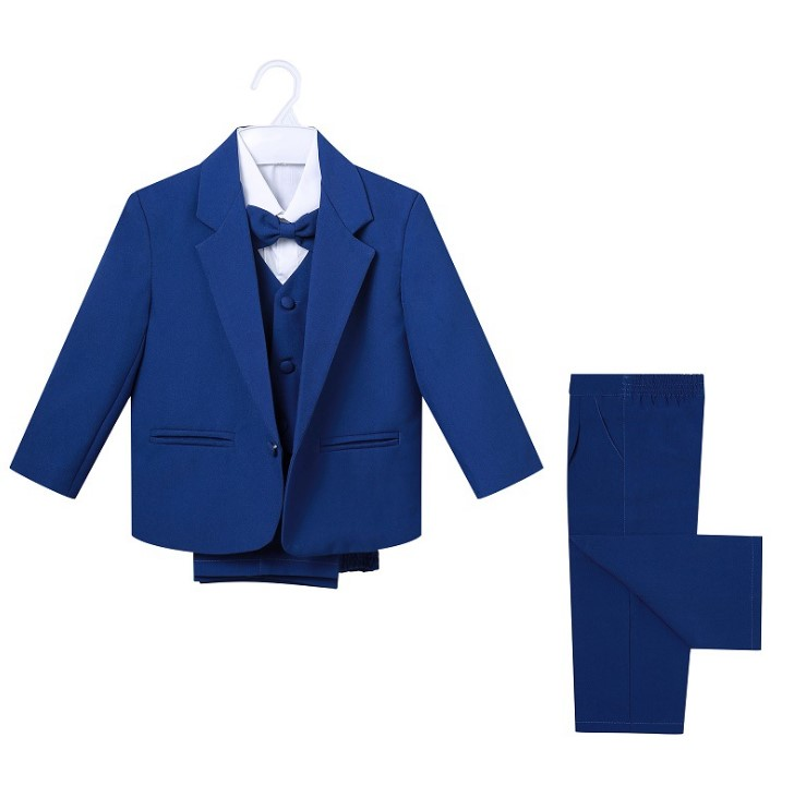 New Arrival Little Boy Formal Suit/Baby Boy Clothes/Gentleman Bowtie Baby Boys 5-piece Suit Set 3187