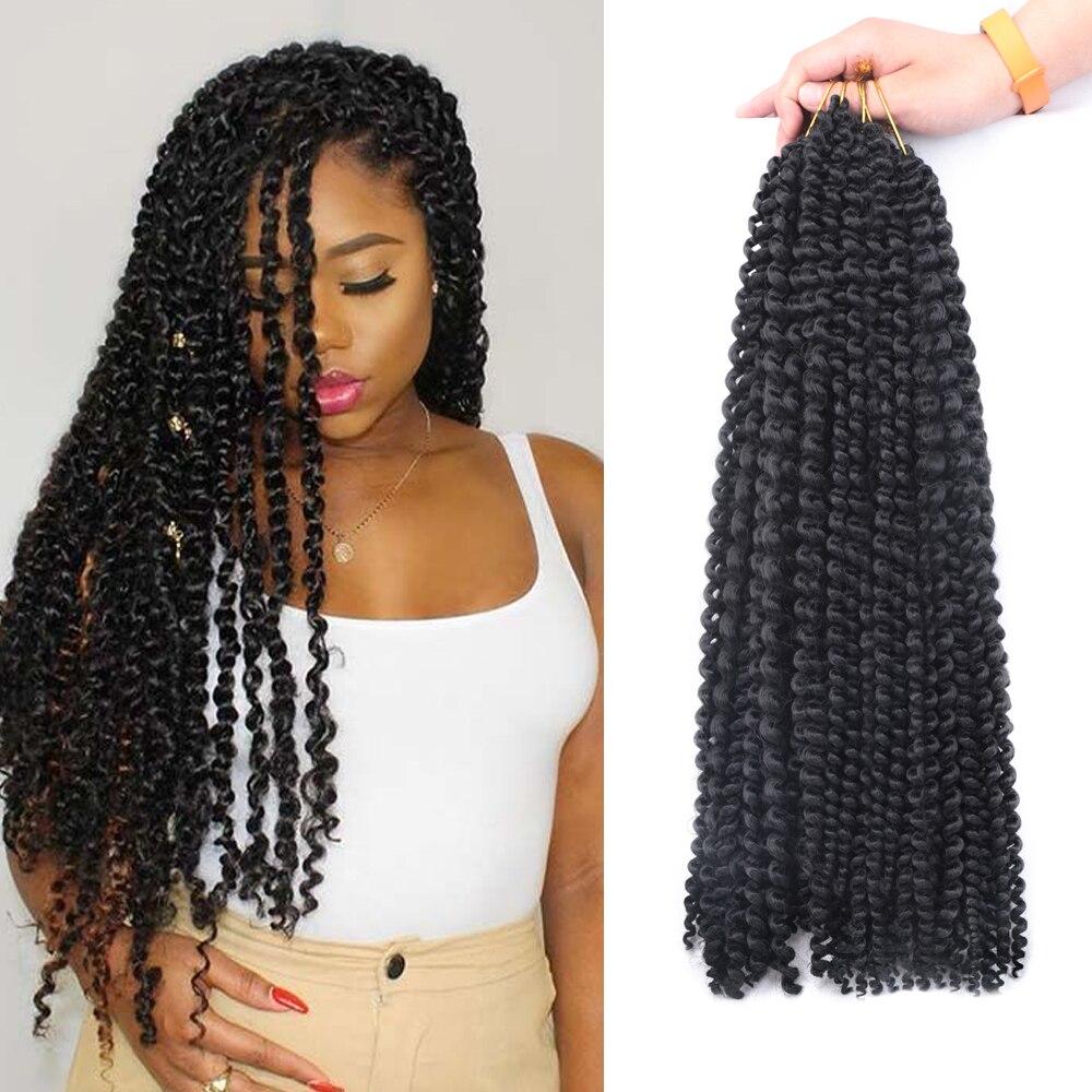 MODERN QUEEN Spring Twist Hair Crochet Braid Kinky Curly  Hair 14/18 Inch Synthetic Hair Passion Twist Braiding Hair Extensions
