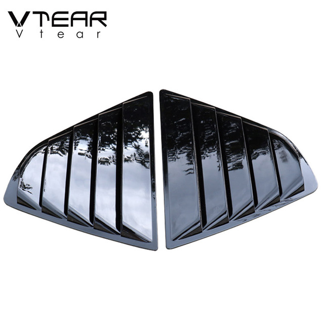 Vtear For Toyota Camry Rear window triangle ABS decoration car-styling cover exterior frame chrome accessories Trim parts 2020 4