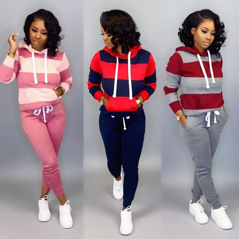 Women's Sets Fashion Tracksuit Two Pieces Sweatshirts Woman Casual Pullover Hoodies Run Pants Plus Size Autumn Winter Promotion
