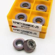 Outil de tournage de carbure RPMT1204 MOE VP15TF, insertion de carbure RPMT 1204 MO E, fraiseuse d'extrémité de tour, fraisage, outil CNC, 10 pièces