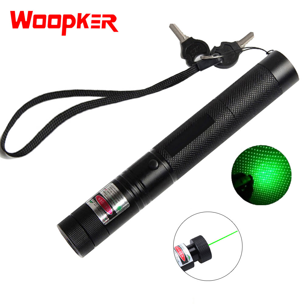 Powerful Green Laser Pointer 5mW 532nm Lazer sight Lasers 303 Pen Adjustable Burning Match Rechargeable
