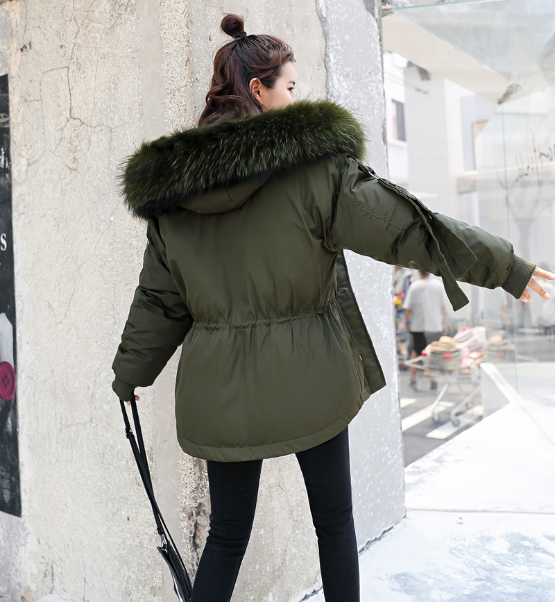 Korean Style 2019 Winter Jacket Women Cotton Padded Hooded With Fur Fe_A7_8