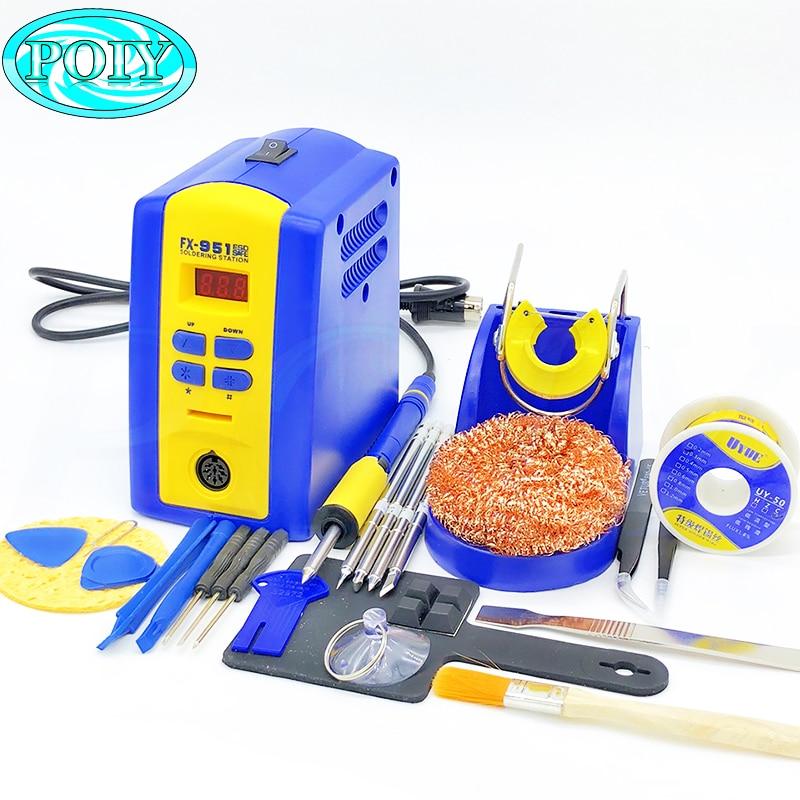 Station de soudage thermostatique numérique, prise ue/US FX-951 fx951, fer à souder électrique 110V/220V + fil à souder