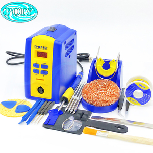 EU/US plug FX-951 fx951 Digital Thermostatic Soldering Station/Solder Electric Soldering Iron 110V/220V+Welding wire(China)