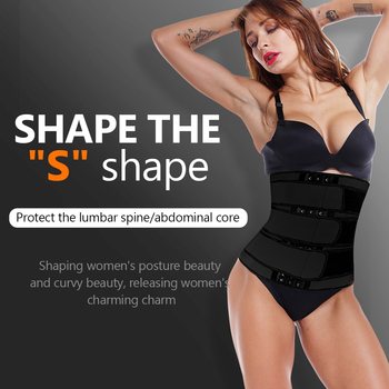 2020 Waist trainer body shaper plus size wasit trainer womens belly control sweat belt cinta modeladora waste trainers