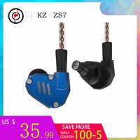 2019 Edizione Commemorativa KZ ZS7 4BA + 1DD Hybrid In Ear Auricolari STEREO Auricolari Bass Auricolare DJ Monitor Auricolare KZ ZS6 AS10 ZST