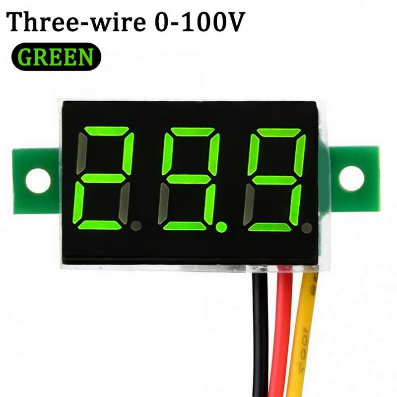0.36//0.56 0-100V 4 Bit 3wires Digital LED Voltage Meter Panel Display Red US