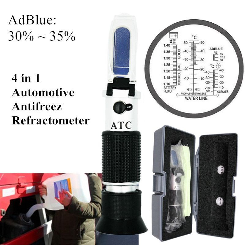 30 35% Vehicle Urea Tester Ethylene glycol Antifreeze Freezing Point Car Battery refractometer tester with retail box  40%off|Refractometers|   - AliExpress