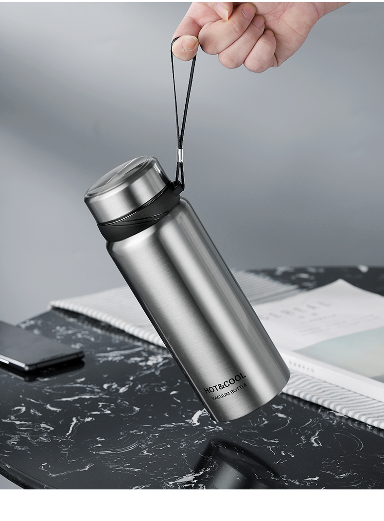 Thermos Inox 750/1200ML portable avec dragonne| OkO-OkO