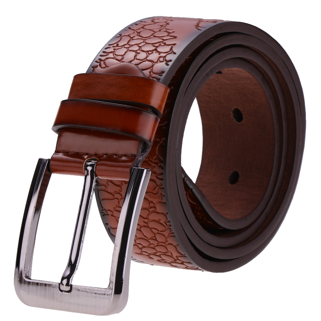 Men's Pin Buckle Belt PU Leather Waistband Waistbelt Fashion Accessory Gift