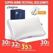 Sagino-almohada de memoria para el cuello almohadas transpirables ajustables para dormir, cojines de doble cara, almohadas decorativas