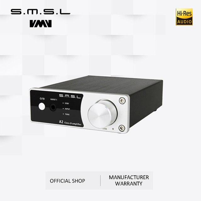 חדש SMSL A2 אודיו דיגיטלי קולנוע ביתי מגבר תמיכה 2 כניסות RCA 3.5mm לאוזניות קלט