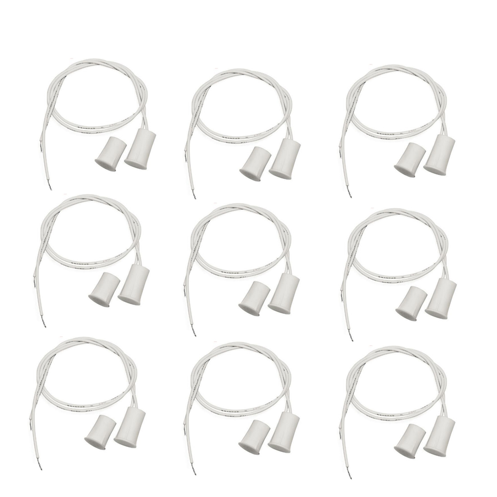 Image 5 - 10pairs NO type Wired Window Magnetic Contact Sensor Detector Window Sensor Magnetic Switch Home Alarm Systemscrew screwscrew magneticscrew secure -
