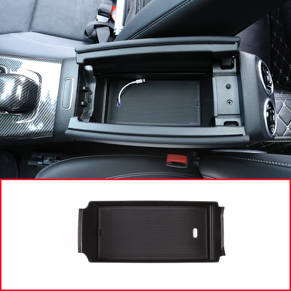 For Mercedes benz A Class W177 A180 <font><b>A200</b></font> <font><b>2019</b></font> Car Interior Center Console Armrest Storage Box Accessories For B Class W247 2020 image