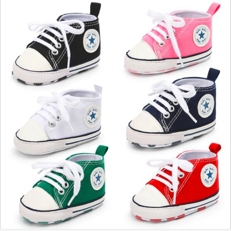 Baby Canvas Shoes Infants Soft First Walkers Anti-Slip Toddler Casual Shoes Sneakers Infant Boy Girl Sport Shoes