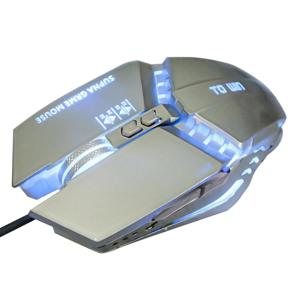 Souris de jeu de gamer professionnel 8D 3200DPI LED optique filaire réglable souris d'ordinateur câble USB souris d'ordinateur