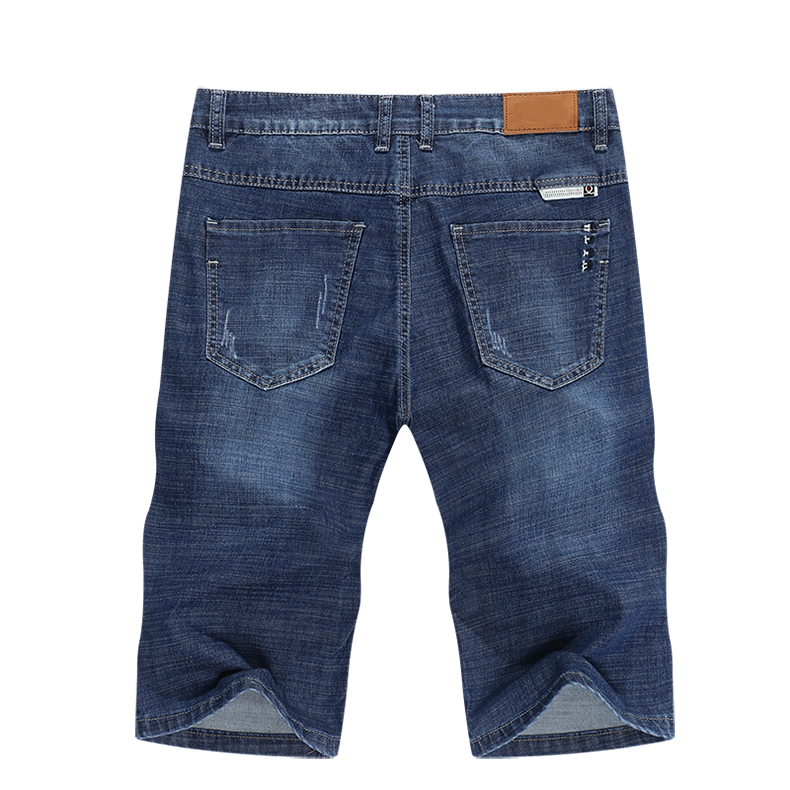 KSTUN Jeans Men Slim Fit Denim Shorts Solid Blue Stretchy Man Jeans Brand 2020 Casual Short Jean