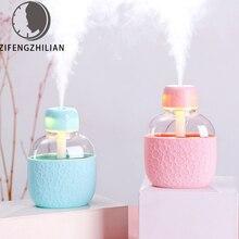 ZIFENGZHILIAN Portable 200ml Mini Kettle Diffuser Fantasy LED Night Light USB Humidifier for Home Use Desktop