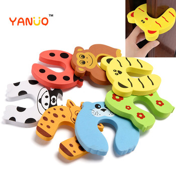 3pcs Child Kids Baby Cartoon Animal Jammers Stop Door Stopper Holder Lock Safety Guard Finger Protect lock - discount item  36% OFF Safety