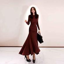 Цельное платье в Корейском стиле 2020 Новый осень зима женские