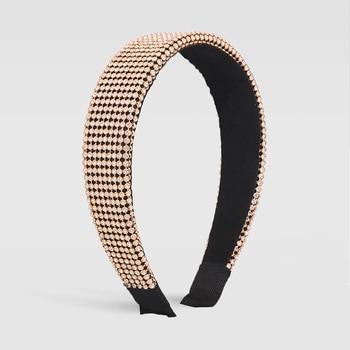 Full Luxury Padded Bling Crystal Rhinestone Wide Hairband 4