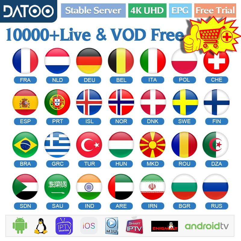 Datoo Spain IPTV France German Sweden Arabic Android IPTV M3u Netherlands Portugal Greek IPTV Spanish Belgium IPTV Subscription