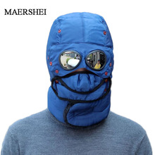 Winter Bomber Hats Plush Earflap Russian Ushanka with Goggle