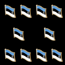 10PCS Estonia National Flag Gold Plated Tie/Cap Lapel Pin Badge Brooch