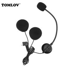 цена на 2 Pcs Microphone Earpiece Type-c Interface For BT-S3 BT-S2 Motorcycle Bluetooth Headset Helmet Intercoms Handsfree Interphone