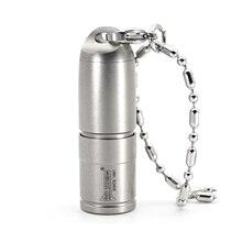 WUBEN G338 미니 led 손전등 마이크로 USB 충전식 키 체인 손전등 티타늄 금속 목걸이 빛 10180 배터리